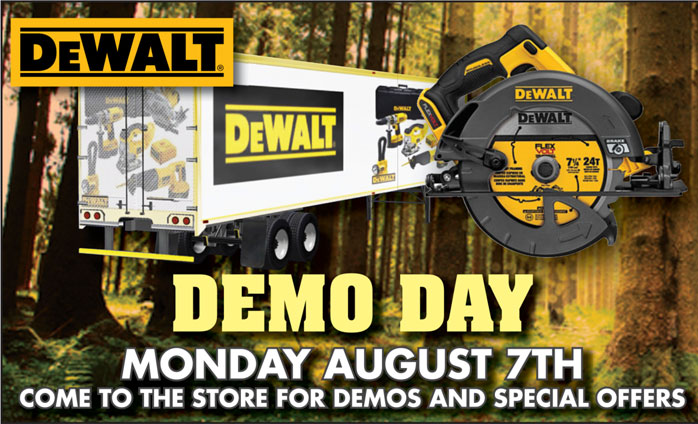 DeWalt Demo Day August 7th 2017